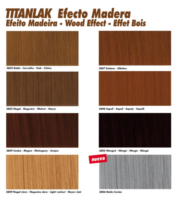 Titanlak efecto madera esmalte que imita las vetas de la - Pinturas para madera interior ...