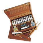 caja madera oleos titan