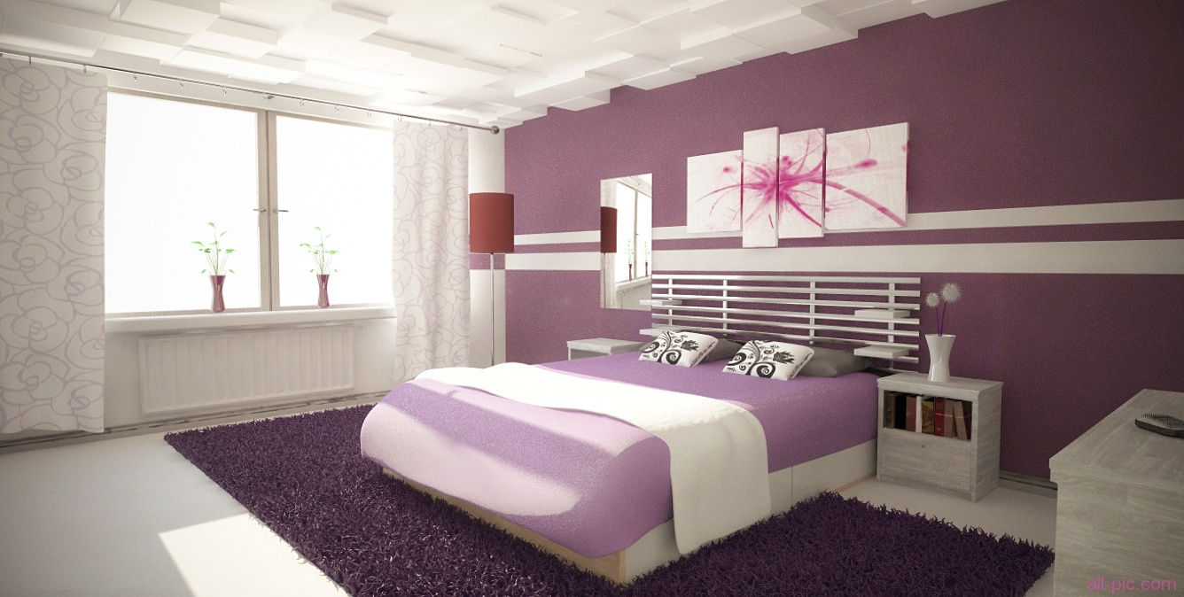 violeta Inspiración y color para la decoración interior