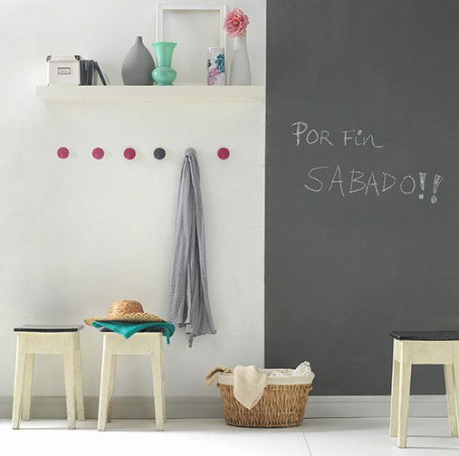 Titan pizarras pintura para pintar pizarras paredes con - Pintura para pared lavable ...