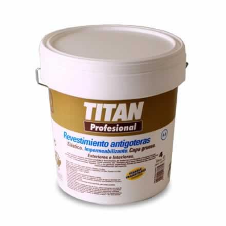 Revestimiento antigoteras Titan profesional. A8 fibrado impermeabilización de terrazas