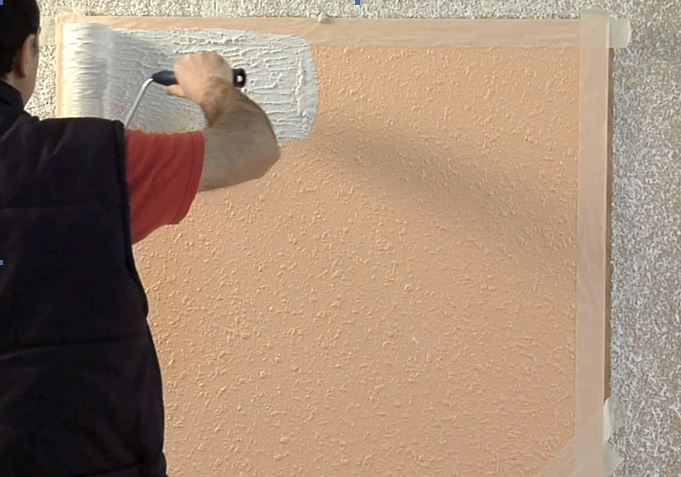 Como quitar el gotel de la pared con rodillo pinturas - Pared gotele ...