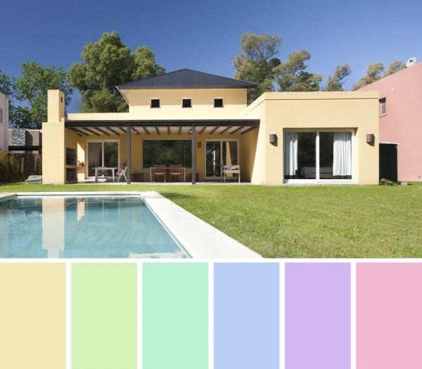 Colores de pintrua para fachadas y exteriores pinturas el artista - Casas exteriores ...
