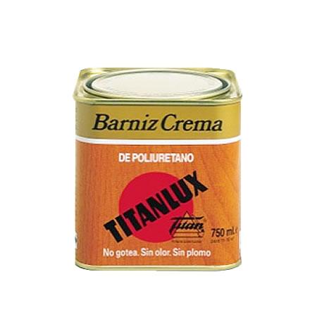 Barniz crema titanlux de poliuretano pinturas el artista for Pintura de poliuretano
