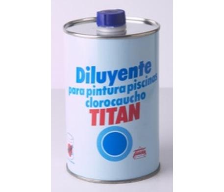 Diluyente para pinturas piscinas clorocaucho titan for Pintura piscina clorocaucho