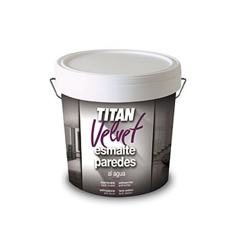 Titan velvet esmalte paredes al agua. Resistentes a roces