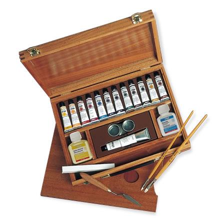 Caja madera oleos titan extrafino 12 ol pinturas el artista - Pinturas de madera ...