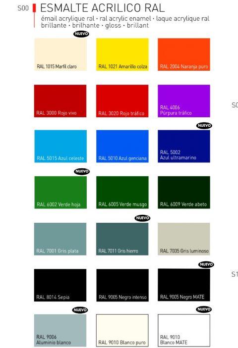 Esmalte acrílico color Ral en spray Titan 2