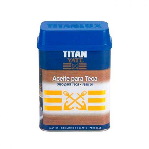 Aceite para teca Titan. Contiene filtros ultravioleta 1