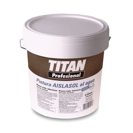 Pintura Aislasol al agua profesional Titan. Quitamanchas A-17 1