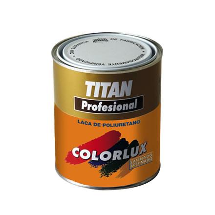 Colorlux laca de poliuretano esmalte satinado secado r pido titan profesional pinturas el - Titan antihumedad ...