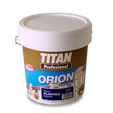 Orion fachadas pintura plastica satinada a3 interior exterior con antimoho titan pinturas el - Pintura plastica interior ...