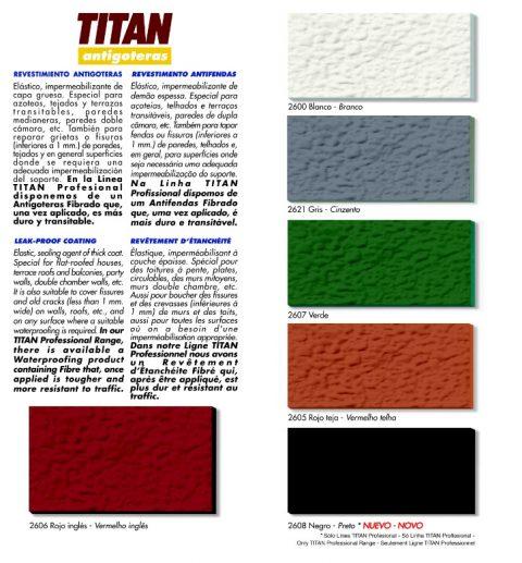 Revestimiento antigoteras Titan profesional. A8 fibrado impermeabilización de terrazas 2