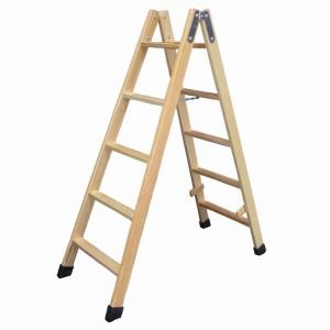 Escalera de madera profesional con tacos de goma para for Escalera electricista madera