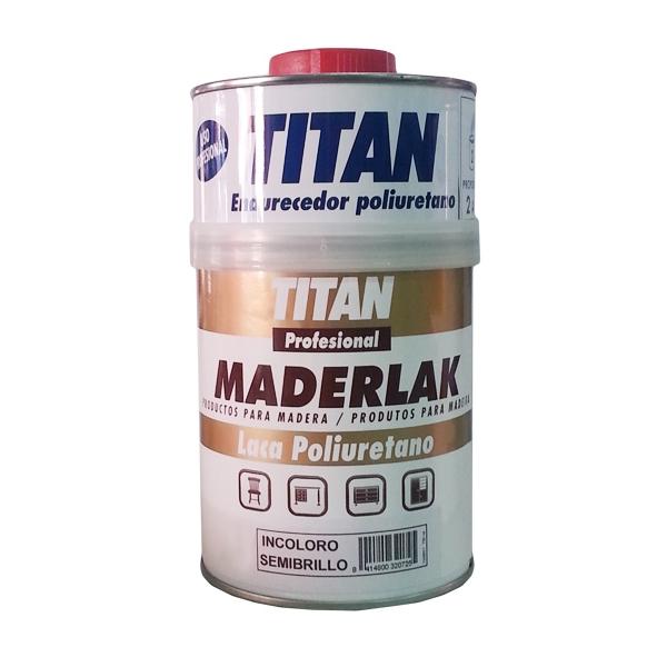 Laca de poliuretano brillante maderlak titan profesional pinturas el artista - Titan antihumedad ...
