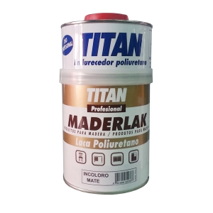 Laca mate de poliuretano maderlak titan profesional for Pintura de poliuretano