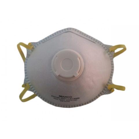 Mascarilla papel con válvula doble capa 1