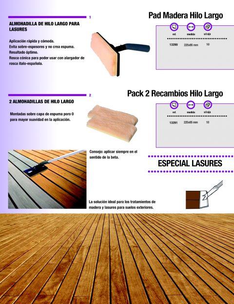 Almohadilla de hilo largo para lasures y barnizes 2