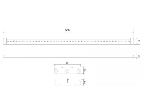 KIT Barra lineal led FINGER Dimmer Touch 5W