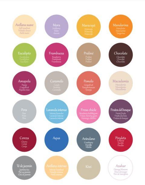 carta colores fragancias